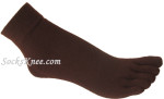 brown_five_finger_toes_toe_socks_ankle_high