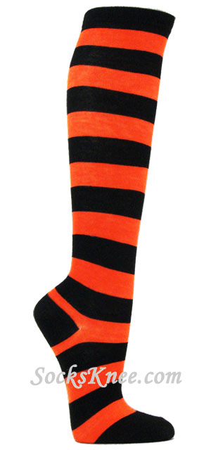 Description. Turn heads and wear Black and Orange Striped Tights. Black and Orange Tights may scream Halloween, but any day is fair game to show off a pair.