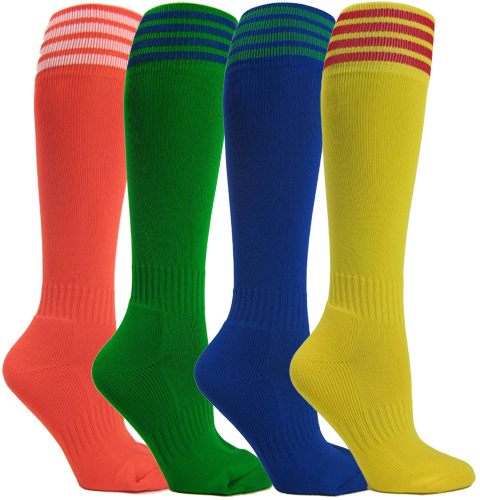 youth striped soccer socks