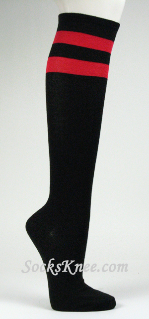 Leg Avenue LOVE SICK Knee High Valentine's Day Black Red Hearts Socks OS See more like this New Women's Cotton Socks Thigh High Striped Over the Knee Slim Leg Stockings Brand New.
