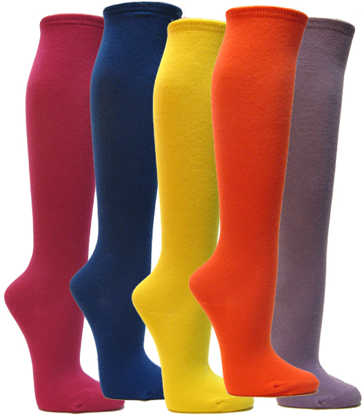Solid color Knee High Socks
